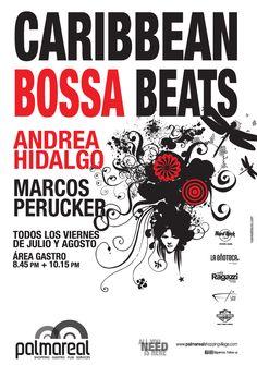 Caribbean Bossa Beats, AndreaHidalgo y Marcos Perucker, todos los viernes de Julio y Agosto en Palmareal