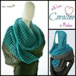 Coraline in Minden Oversized Cowl and Wrap free #crochet pattern by Celina Lane, Simply Collectible plus a great video how to of a half double foundation chain