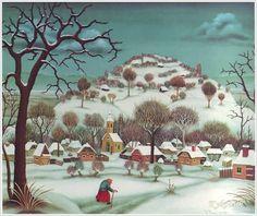"""""""Winter in the Village"""" by Ivan Generalic (1970)"""