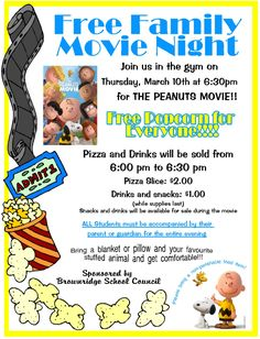 family movie night poster March 2016