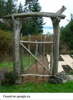 Garden gate driftwood