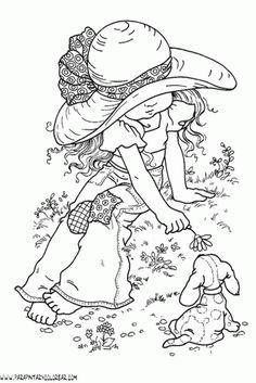 Holly Hobbie Colouring Pages Holly Hobbie, Animal Coloring Pages, Coloring Book Pages, Mandala Coloring Pages, Hand Embroidery Designs, Embroidery Patterns, Hobby Lobby Letters, Hobbies To Try, Digi Stamps