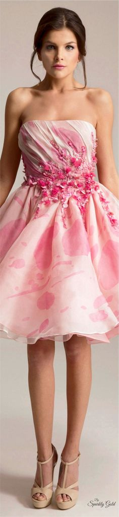 – 32 photos - the complete collection Abed Mahfouz, Pink Fashion, Party Fashion, Fashion Outfits, Modern Fashion, Women's Fashion, Tea Length Dresses, Short Dresses, Pink Dresses