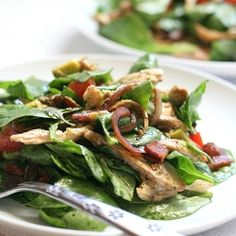 BLT Chicken Salad with Warm Bacon Dressing (as long as the T is turkey!)