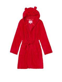 5acabfd6c7 Victorias Secret Red Snowball Fleece Short Robe Red XS  gt  gt  gt  For