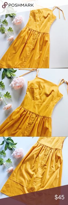 🌟N E W🌟Yellow Gold Spaghetti Strap Dress 🌸ABSOLUTELY STUNNING🌸  •Brand new with boutique tags •Measurements upon request •Size says Small, fits as XS/S in my opinion •Fabric is polyester •Top part is doubled, midi style, back zipper, adjustable straps  NOTE: •there might be a 2-3% difference due to manual measurements •there might be a tiny slight color difference due to screen resolution  ©Rebellious Cactus Boutique 2017 Dresses