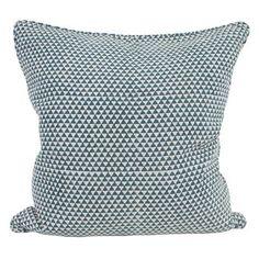 Huts pacific blue linen cushion 55x55cm
