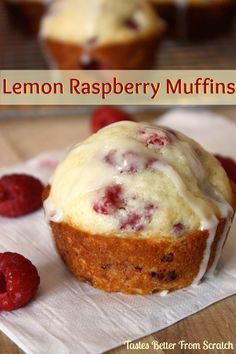 Lemon Raspberry Muffins - made recipe with ww pastry flour & the regular amount of sugar. Used frozen raspberries. Made 8 muffins. Lemon Raspberry Muffins, Raspberry Cheesecake, Lemon Muffins, Raspberry Recipes, Raspberry Freezer Jam, Muffin Recipes, Baking Recipes, Just Desserts, Dessert Recipes