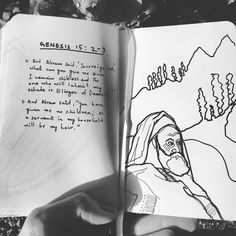 This is a planning sketch of this conversation that takes place between Abraham and God about having no children. #saturday #stories #storytelling #drawing #blackandwhite #biblejournaling #bibleverse #biblescripture #artist #illustration #graphicnovel #art #paint #jesus #christmas #lord #thankful #london #holygod #htb #htbchurch #tryalpha by jyothishnair