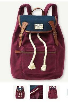 Jack Wills Penrose Backpack Bag Rucksack Handbags On Sale, Purses And Handbags, Jack Wills Bags, Mochila Kanken, Cute Backpacks, Backpack Purse, Backpack Pattern, Rucksack Bag, Messenger Bags