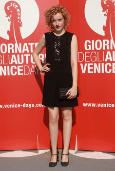 Julia Garner at the 2015 Venice Film Festival. See all the stars' gowns, dresses, and jewels from the premieres.