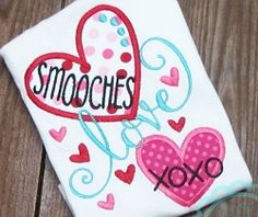 Love Word Hearts Applique - 2 Sizes! | What's New | Machine Embroidery Designs | SWAKembroidery.com So Cute Appliques