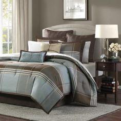 New bedroom inspired?      Lincoln Square 8-Piece Comforter Set - BedBathandBeyond.com