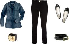 Love This Look: Love This Look: Chambray & Black Skinny Jeans