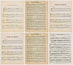Christmas & Winter-Related Antique Music Pages - Vintage White Christmas Tree Decorations