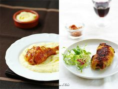 Roasted chicken, two methods francais
