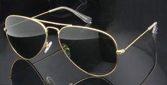 High Quality Glass Sunglasses Lens Vintage Sunglasses Men Women Gold Reflective Sunglasses UV400 Sun Glasses 55MM 58MM 2 Size