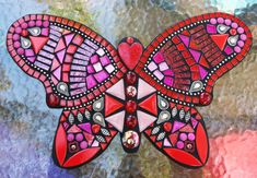 MOSAIC BUTTERFLY - Custom Order Created by Tina @ Wise Crackin' Mosaics