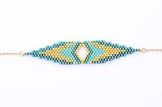 Bracelet CLEO Turquoise et Or