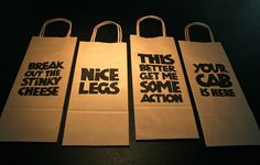 funny wine gift bags