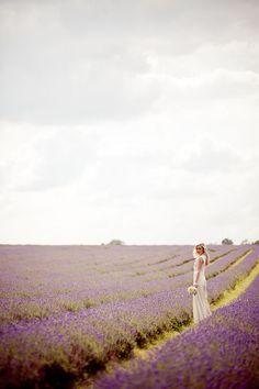 1970s Inspired Lavender Field Bridal Inspiration Shoot... {Photography: Eddie Judd}