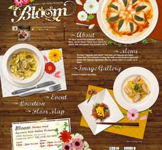 Bloom restaurant website #Italian restaurant