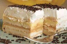 Pudinkový zákusek s bebe Tart Recipes, Sweet Recipes, Cooking Recipes, Croatian Recipes, Hungarian Recipes, Shortbread Cake, Posne Torte, Chocolate, Beaux Desserts