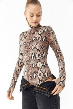 79c721bbd955 See more. Slide View: 3: I.AM.GIA Kenzie Snake Print Bodysuit Urban  Putfitters