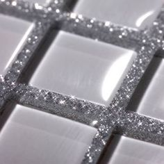 Add a bit of sparkle to your bathroom - Glitter Grout. oh my goodness, this is absolutely awesome!
