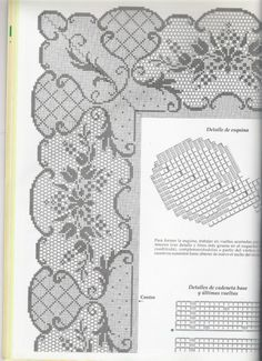 Gallery.ru / Фото #16 - Muestras y Motivos 15 - Mongia Le Point, Lace Tops, Crochet Edgings, Cross Stitch Floss, Lace Peplum Tops
