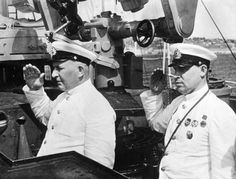 Commander of the pacific fleet of the ussr viceadmiral yumashev and chief of…