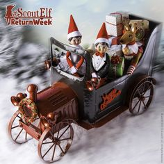 Buckle up for holiday fun! Your scout elf will be back soon, if they're not home already! #ScoutElfReturnWeek | Elf on the Shelf Ideas