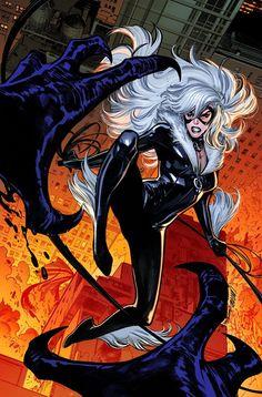 Black Cat Comics, Ace Comics, Marvel Comics Art, Spiderman Black Cat, Black Cat Marvel, Comic Movies, Comic Games, Comic Books, Greatest Villains