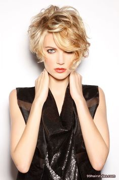 short messy WAVY BOB hairstyle idea - 99 Hairstyles Ideas