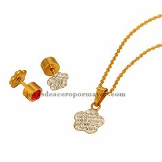 stainless steel crystal sets for women-SSNEG391723