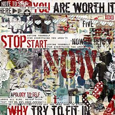 Shine From Within: You Are Worth It [Value Bundle] By Captivated Visions  (includes: Mixed Media Papers, Elements & Ephemera, Inky Papers, Mish Mash Alpha Stash 2, and Mish Mash Stamp Stash 6)