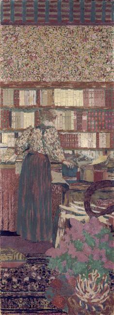 Vuillard, Edouard (Cuiseaux, 11/11/1868 - La Baule-Escoublac, 21/06/1940) 1896, Personnages dans un intérieur. Le choix des livres