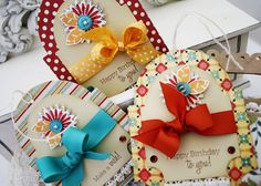 Lovely tags with ribbon