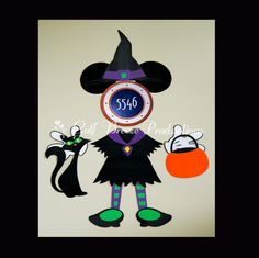 Minnie Mouse Witch Halloween Magnet for Cruise Door by GulfBreezeProduction on Etsy