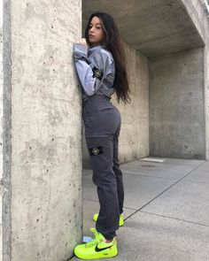 Turned to stone Stylish Outfits, Cute Outfits, Neon Outfits, Stone Island Clothing, Stone Island Jacket, Girl Outfits, Fashion Outfits, Fasion, Women's Fashion
