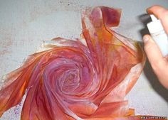 Master-class spray painting a scarf in the technique of shibori. Comments: LiveInternet - Russian Service Online Diaries