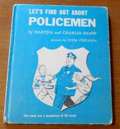 Let's Find Out About POLICEMEN - Vintage Book - First Responders - Police - Vintage Book - Martha and Charles Shapp by Luv2Junk on Etsy