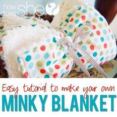 Minky Blanket tutorial