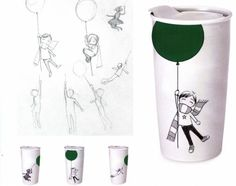 The Artist and Inspiration behind the 'Boy with a Green Balloon' Mug from Starbucks Dot Collection | Starbucks Newsroom