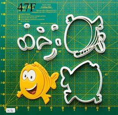 Bubble Guppies Cookie Cutter.The cookie cutters let you make beautiful cookies EASY. Please follow me and REPIN the cookie cutters  on my board ,also you can click the LIKE button, or share it to you friends,thank you very much.Best wishes for you !