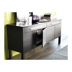 BJURSTA Sideboard - brown-black - IKEA