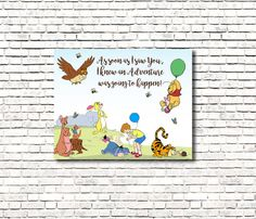 Winnie the Pooh and Friends Adventure Sign by SpeckledinSunlight