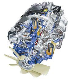 Scania 16-litre V8 engine cutaway by Scania Group, via Flickr