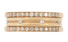 Red Gold stackable wedding bands from Marlene Harris Collection (1.94mm)  WB2519