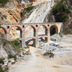 Carrara Marble Quarries - Old bridge - Apuan Alps. Italy